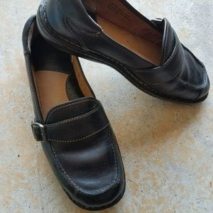 Black leather shoes by Born